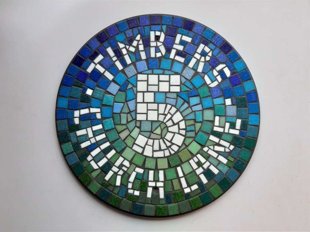 Mosaic house number commission