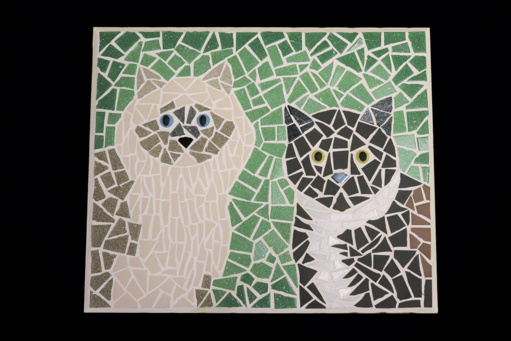 Mosaic cats picture commission